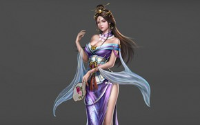 Картинка Girl, Beautiful, Art, Style, Queen, Fiction, Characters, Dress, Figure, Three Kingdoms, An Hua