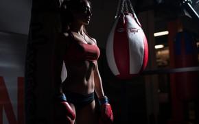 Картинка woman, shadows, Boxing