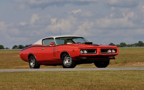 Картинка Muscle, Dodge, Red, Classic, Coupe, Charger, Vehicle
