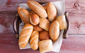 Картинка стол, фон, доски, хлеб, сдоба, выпечка, булочки