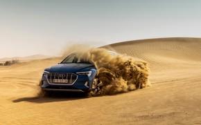 Картинка песок, синий, Audi, E-Tron, 2019