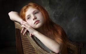 Картинка девочка, веснушки, рыжик
