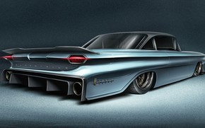 Картинка Car, Art, Transport & Vehicles, Andreas Wennevold, 60' Oldsmobile Dynamic 88, by Andreas Wennevold, Oldsmobile …