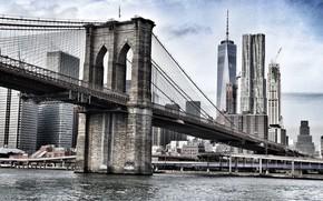 Картинка Мост, Город, Пролеты