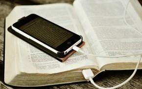 Картинка книга, телефон, смартфон