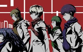 Картинка красный фон, персонажи, Tokyo Ghoul, Токийский Гуль, Канеки Кен