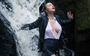 Картинка вода, девушка, азиатка