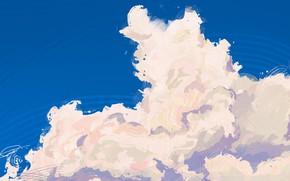 Картинка небо, вода, облака, отражение, by Fangpeii
