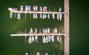 Картинка Вода, Море, Причал, Яхты, Лодки, Вид сверху, Пристань, Катера, Stephan Mülle, by Stephan Mülle