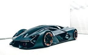 Картинка фон, Lamborghini, помещение, 2017, Terzo Millennio Concept, не тёмный