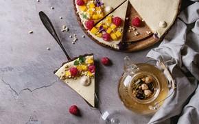 Картинка ягоды, чай, пирог, манго, десерт, Natasha Breen