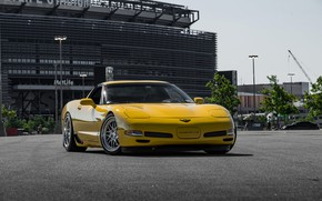 Картинка Z06, Corvette, Chevrolet, Hybrid, Forged, Series, Yellow, Wheels, CCW, HS016