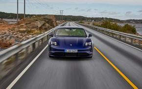 Картинка Porsche, спереди, Turbo, 2020, Taycan
