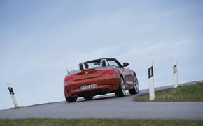 Картинка дорога, поворот, BMW, родстер, 2013, корма, E89, BMW Z4, Z4, sDrive35is