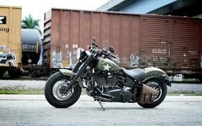 Картинка Harley-Davidson, Motorcycle, Softail Slim S