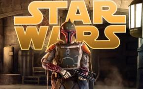 Картинка Star Wars, Art, fanart, Concept Art, Boba Fett, Characters, by Pablo Olivera, Pablo Olivera, Star ...
