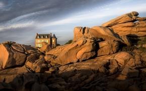 Картинка Bretagne, littoral, Côtes-d'Armor, rochers