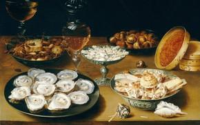 Картинка Osias Beert, Still life with oysters, Осиас Берт Старший, фламандский живописец, Flemish painter, Osias Beert …