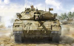Картинка jason, израиль, основной боевой танк, ОБТ, ЦАХАЛ, MBT, Merkava Mk.2D IDF Main Battle Tank