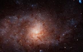 Картинка Spiral galaxy, NGC 598, constellation Triangulum, The Triangulum Galaxy, Messier 33