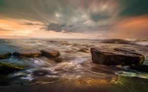 Картинка море, небо, прибой