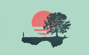 Картинка Дерево, Музыка, Фон, Japan, Fantasy, Арт, Neon, Rising, Ambient, Surreal, Science Fiction, Синтвейв, Ретровейв, Outrun, …