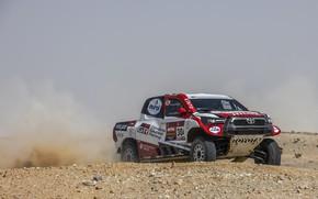 Картинка Toyota, пикап, Hilux, ралли, 2020, Rally Dakar, 2021, Gazoo Racing