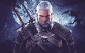 Картинка Геральт из Ривии, The Witcher 3: Wild Hunt, Ведьмак 3: Дикая охота, Geralt of Rivia