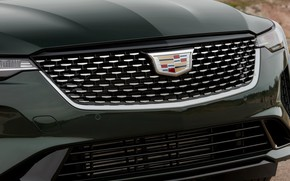Картинка Cadillac, решётка, седан, четырёхдверный, 2020, CT4