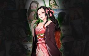 Картинка nezuko kamado, Kimetsu no Yaiba, клинок рассекающий демонов
