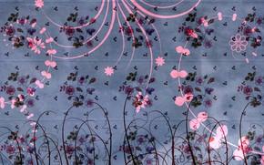 Картинка цветы, дизайн, фон, узор, текстура, украшение