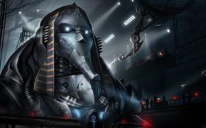 Картинка машина, знак, ангар, pharaoh, персонал