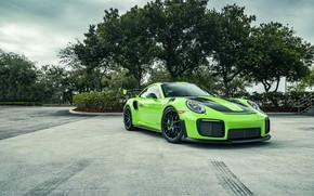 Картинка Porsche, Green, 991, VAG, Sight, GT2RS