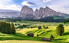 Картинка горы, Италия, Доломитовые Альпы, Dolomite Alps, Альпе-ди-Сьюзи