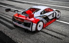 Картинка Audi, Машина, Асфальт, Audi R8, Motorsport, Рендеринг, Concept Art, Спорткар, Game Art, Audi R8 LMS, ...