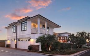 Картинка дом, фото, гараж, USA, особняк, Newport Beach