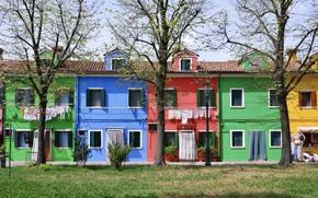 Картинка дома, Италия, Венеция, остров Бурано