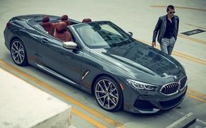 Картинка полосы, транспорт, мужик, автомобиль, BMW 850i