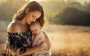 Картинка настроение, ребёнок, мать