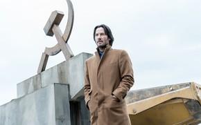 Картинка взгляд, мужчина, пальто, Киану Ривз, siberia, Keanu Reeves