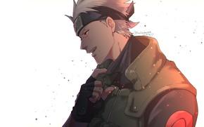 Картинка мужчина, Наруто, Naruto, Какаши Хатаке, без маски