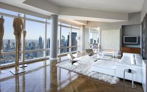 Картинка комната, интерьер, NYC, гостиная