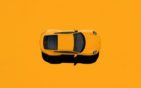 Картинка Авто, Машина, Render, Porsche 911, Вид сверху, Рендеринг, Supercar, Porsche 911 Carrera S, Transport & …