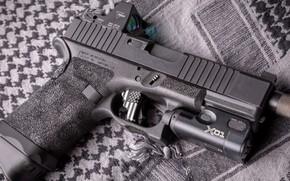 Обои пистолет, оружие, gun, pistol, weapon, Глок, Glock, кастом, custom