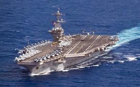 Картинка Pacific Ocean, USS Theodore Roosevelt, Aircraft Carrier, CVN 71