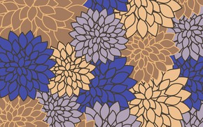 Картинка цветы, фон, винтаж, flovers