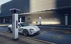 Картинка Porsche, зарядка, Turbo S, 2020, Taycan