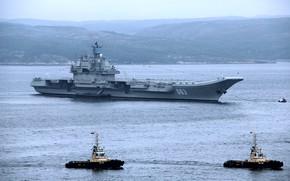 Обои авианосец, на рейде, адмирал кузнецов