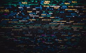 Картинка Dark, Экран, Данные, Screen, Source Code, Исходный код, Programming, Программирование, Markus Spiske, Coding, Data, Кодирование, …