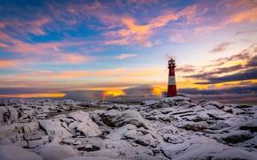 Картинка побережье, маяк, Норвегия, Rogaland
